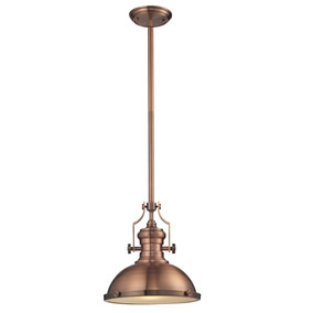 Lámpara Colgante 1 Luz Estilo Vintage Color Cobre Antiguo Cl