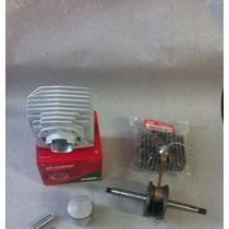 Kit Cilindro Wgk Mobilete 75cc Com Cabeçote E Virabrequim Ss