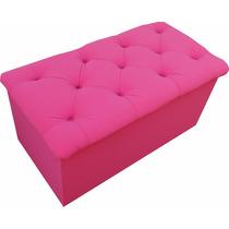 Recamier Puff Bau Pé De Cama Cama Box Solteiro 90cm Pink