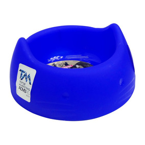 Comedouro Bebedouro Petigela Formato Gato Azul Acessório Pet