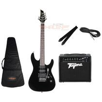 Kit Guitarra Tagima Mg230 Preta + Amplificador Fox 20