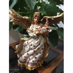 Angel De La Abundancia, Abundia Y Prosperidad 35 Cm Resina