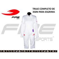 Traje Uniforme Completo Esgrima Fire Sports 350n