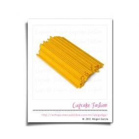 Palitos De Plástico Para Paletas Amarillo Cakepop Pop #190