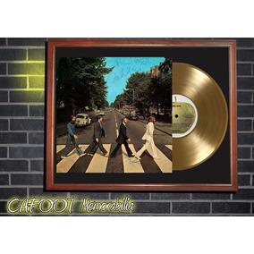 The Beatles Abbey Road Tapa Lp Firmada Disco Oro Cuadro