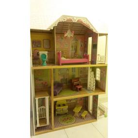 Casa De Muñecas Kidcraft Elevador Muebles Musical Casi Nueva