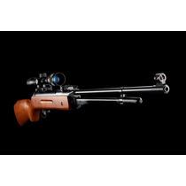 Rifle Aire Comprimido Potenciado 5.5 + Mira 4x20 + 500baline