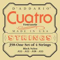 Set Cuerdas Nylon Negro De Cuatro - D Addario - - Selladas
