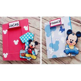 Portaretratos Souvenirs Mickey Mouse 10x15 C/vidrio X10u