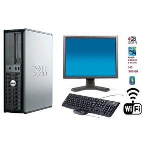 Pc Dell 380 Core 2 Duo E8300/ 4gb Ddr3 / Hd 500 Gb + Wi-fi