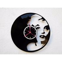 Reloj De Pared Disco De Vinilo Vinil Acetato Marilyn Monroe