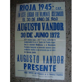 Afiche Original D Calle 1972 Vandor Uom Politica Peronismo