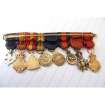 Condecoraciones Ocho Guerra 1914 Selladas Originales