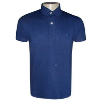 Camisa Ricardo Almeida Gola Polo Camiseta Azul Escuro