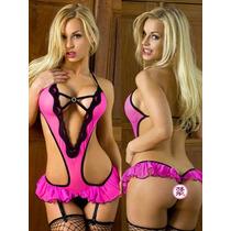 Babydoll Lenceria Ropa Interior Erotica Sexy Modelo Pink Hot