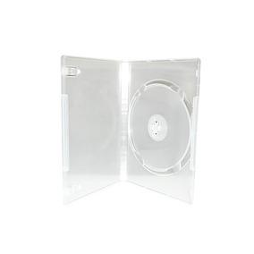 100 Estuche Transparente 1 Disco Para Dvd 14mm Generico