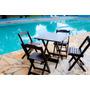 Jogo Mesas E Cadeiras Dobraveis 70x70 Para Restaurante