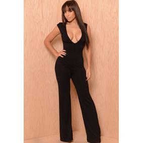 Moda Sexy Body Palatso Completo Negro Amplio Escote 60216