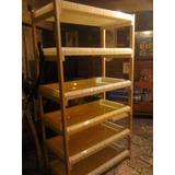 estanteria jardinera vertical hidroponica madera y acrilico