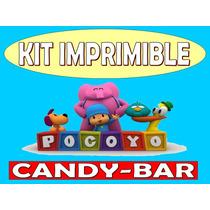 Kit Imprimible Candy Bar Pocoyo Golosinas Personalizadas