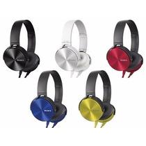 Auriculares Tipo Mdr-xb450 Vincha Extra Bass Potenciado