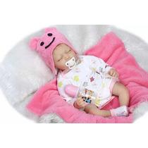 Boneca Bebê Reborn Dormindo Fotos Reais Pronta Entrega