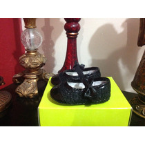 Zapato Fiesta Formal Bebe Negro Flor Num 10 Remate