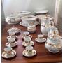 Aparelho De Jantar Antigo Em Porcelana Folheado A Ouro 24 Kt
