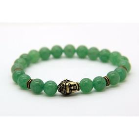 Pulsera De Piedra Jade O Venturita Con Buda De La Suerte