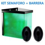 Kit Garaje Cochera 1 Semáforo 24 Leds + 1 Barrera Infrarroja
