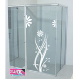 Adesivos Decorativos Para Box Desenho Floral
