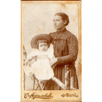 Fotografía Sobre Cartón - Carte De Visite 1896