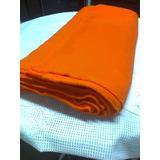 Remato 11 Mts De Tela Jersey Sintetico Pesado Color Naranja
