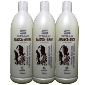 Kit 3 Shampoo Ultra Hidratante Mandioca Cauterização Stillo