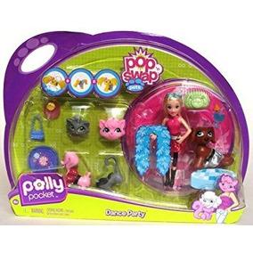 Juguete Polly Pocket Pop N Intercambiar Dance Party Mascota