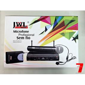 Microfone Sem Fio Uhf De Mão Duplo Jwl U-585 (original)