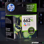 Hp 662xl Color 1015 1515 1516 2515 2545 2645 - Printersup