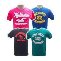 Kit C/10 Camisetas Bordada Hollister Abercrombie Aeropostale