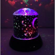 Luminária Abajur Projetor De Estrelas Giratório + Brinde