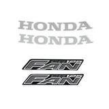 Kit Adesivos Honda Fan Cg 125 2008 Cinza
