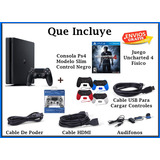Ps4 Slim 500 Gb + 2 Controles + Obsequio