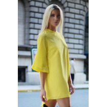 Vestido Amarillo Suelto