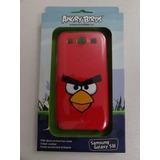 Capa P/ Celular Samsung Galaxy S3 Angry Birds Original Verm