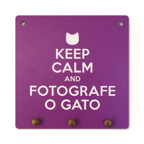 Porta Chaves Keep Calm E Fotografe O Gato