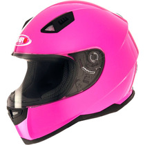 Casco Integral Shiro Sh 881 Pink Fluo Rosa Mujer / Dama Fas