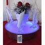 Base Giratória Para Buffet Decoração Com Luz Led - Bivolt