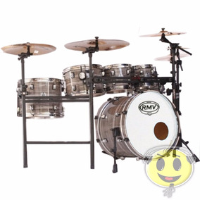 Bateria Rmv Road Up 22 + 3 Tons Zebrano Brilhante - Kadu Som