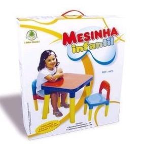 Mesa Atividades Infantil C/ Porta Objeto 2 Cadeira 50x50