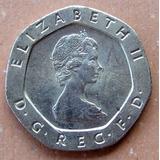 Moneda Inglaterra 20 Pence 1982 Brillante Oferta