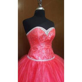 Hermoso Vestido De Xv Años Color Coral